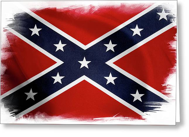 Confederate Flag 10 Greeting Card