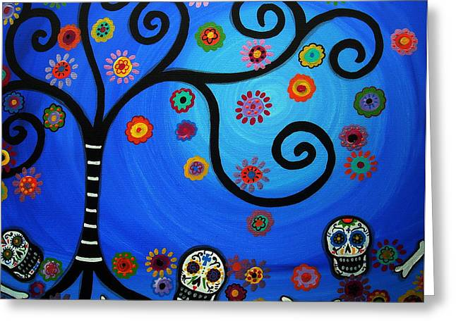 Turkus Greeting Cards - Dia De Los Muertos Greeting Card by Pristine Cartera Turkus
