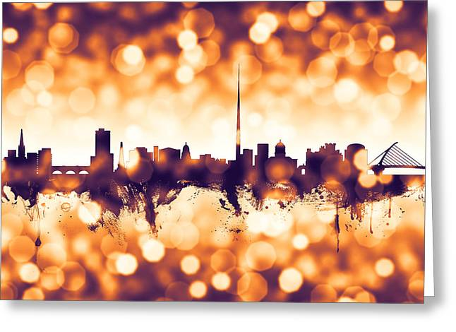 Dublin Ireland Skyline Greeting Card