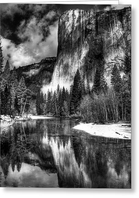 El Capitan Greeting Card by Marc Bittan