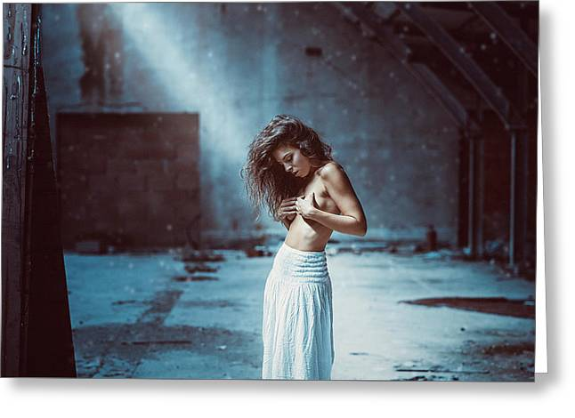 Greeting Card featuring the photograph Giulia by Traven Milovich