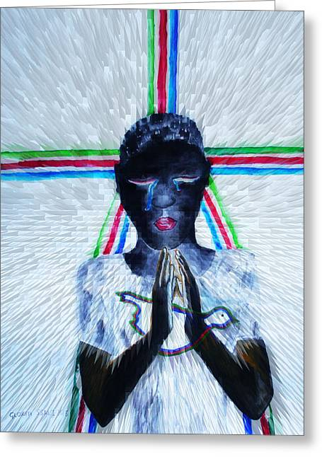 Hope For Peace In South Sudan Greeting Card by Gloria Ssali