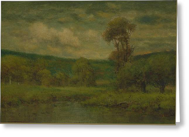 Landscape Greeting Card by George Inness