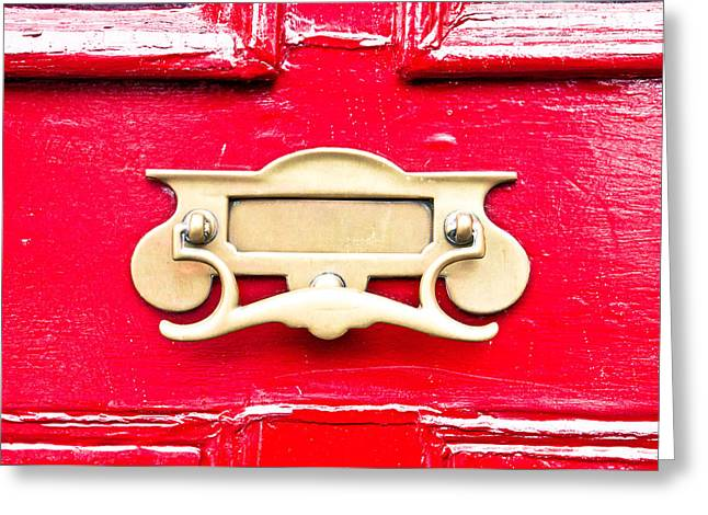 Letterbox Greeting Card by Tom Gowanlock