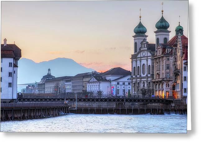 Lucerne - Switzerland Greeting Card by Joana Kruse