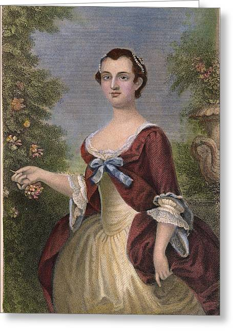 First-lady Photographs Greeting Cards - Martha Washington Greeting Card by Granger