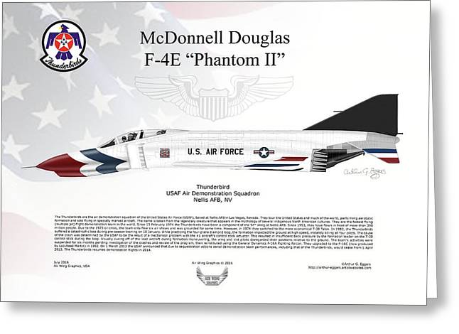Mcdonnell Douglas F-4e Phantom II Thunderbird Greeting Card