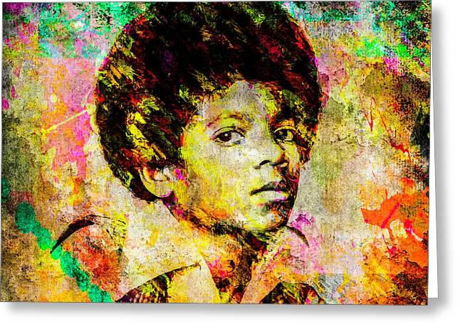 Michael Jackson Greeting Card by Svelby Art