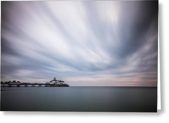 10 Minute Exposure Of Eastbourne Pier Greeting Card