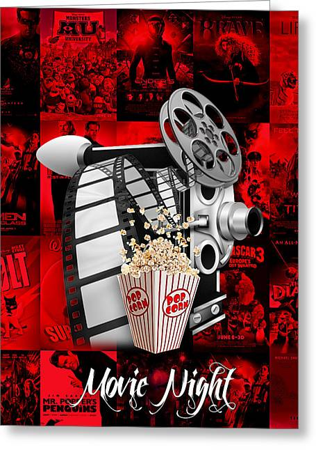 Movie Room Decor Collection Greeting Card