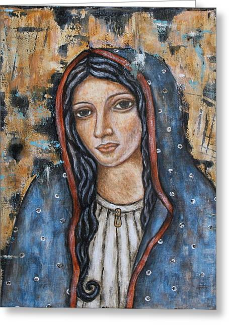 Our Lady Of Guadalupe Greeting Cards - Our Lady of Guadalupe Greeting Card by Rain Ririn
