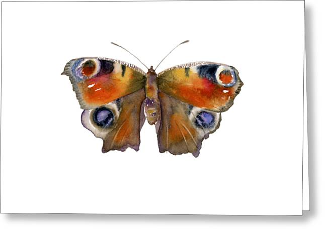 10 Peacock Butterfly Greeting Card