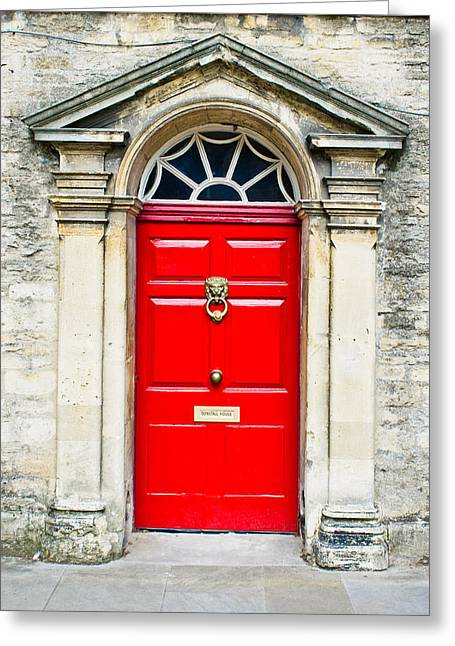 Red Door Greeting Card