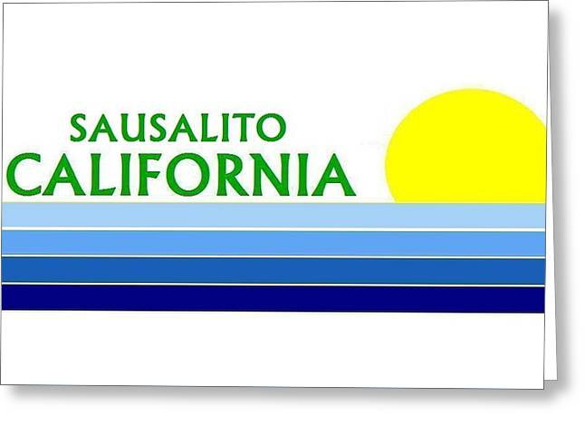 Sausalito California Greeting Card