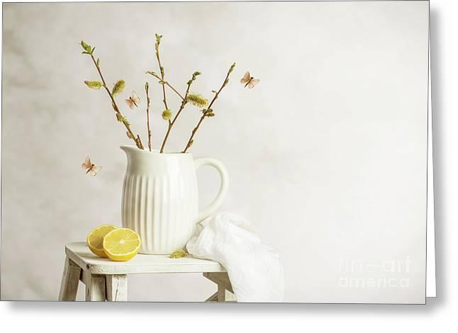 Spring Still Life Greeting Card by Amanda Elwell