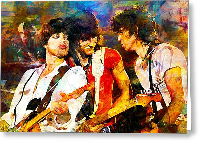 Ronnie Wood Greeting Cards Fine Art America