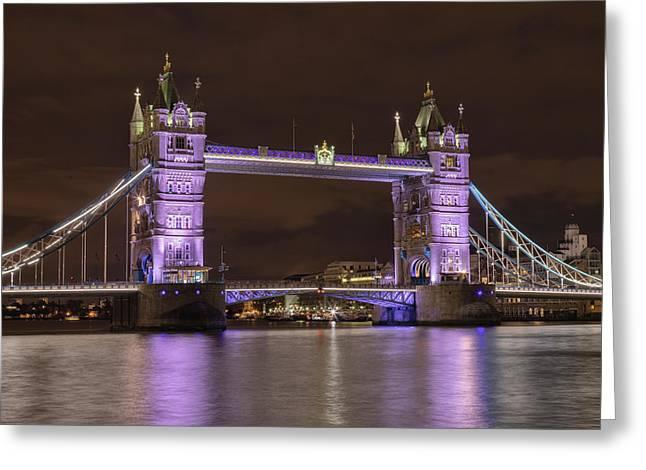 Tower Bridge - London Greeting Card by Joana Kruse
