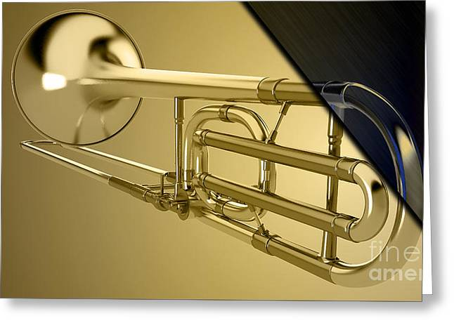 Trombone Collection Greeting Card by Marvin Blaine