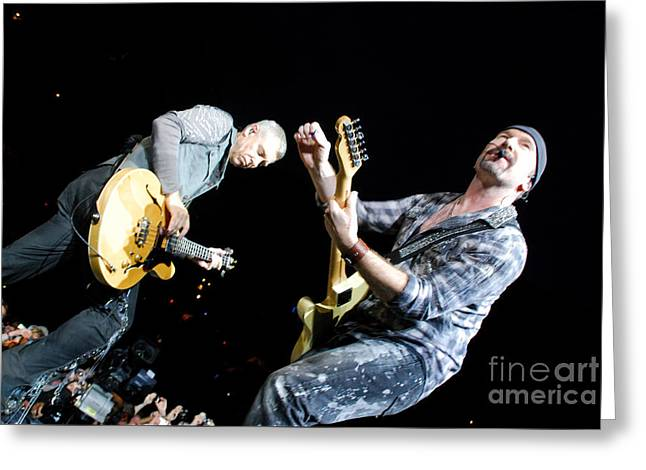 U2 Greeting Card by Jenny Potter