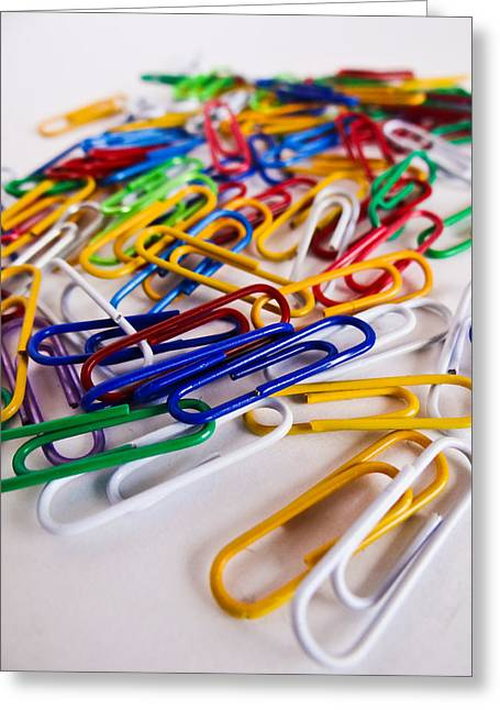 100 Paperclips Greeting Card
