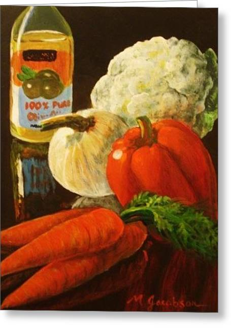 100 Percent Pure Greeting Card by Marilyn Jacobson