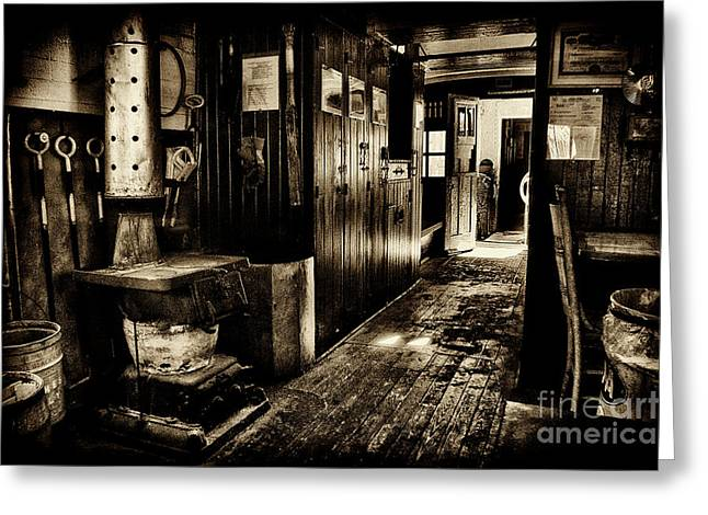 100 Year Old Prr Caboose Greeting Card by Paul W Faust - Impressions of Light