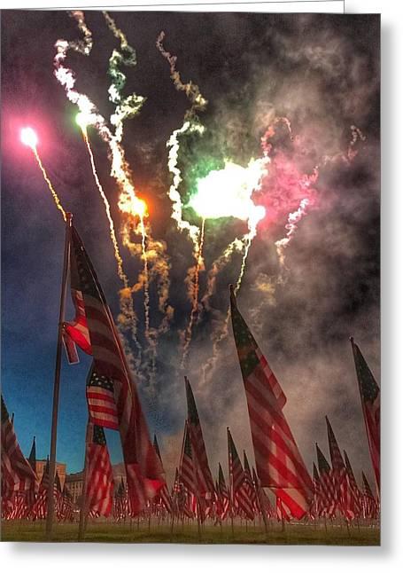 1,000-flag Charlestown Field Of Honor  Greeting Card