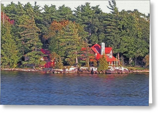1000 Island Scenes 17 - Skull And Bones Society - Deer Island Greeting Card by Steve Ohlsen