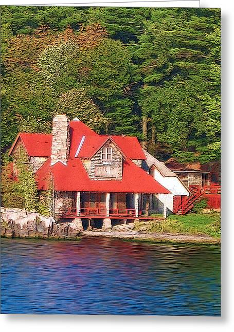 1000 Island Scenes 18 - Skull And Bones Society - Deer Island Greeting Card by Steve Ohlsen