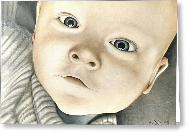 Portrait Of Raphael, 1 Greeting Card by Ramona Boehme