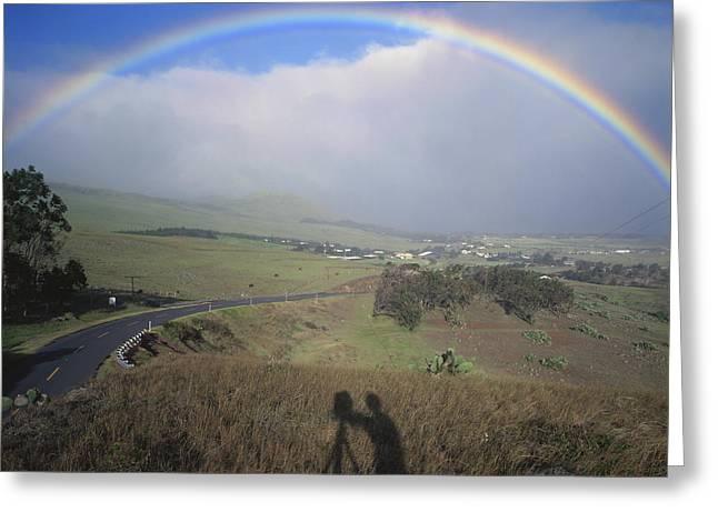 100860 Rainbow In Hawaii Greeting Card