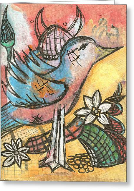 1014 Sometime After April 23rd  Greeting Card by Pegeen  Shean