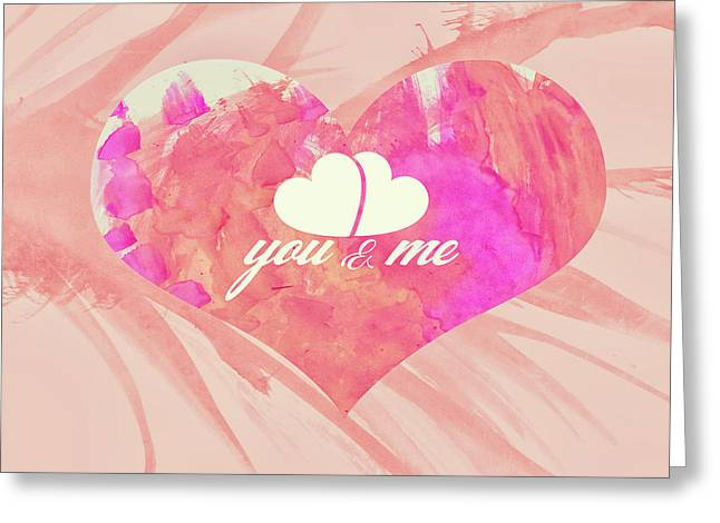 10183 You And Me Greeting Card
