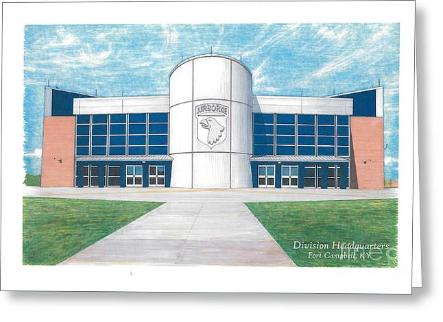 101st Airborne Division Headquarters Greeting Card by T Franz