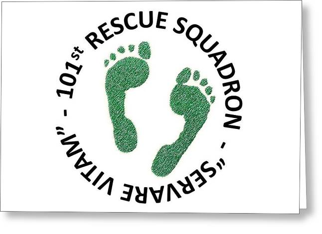 101st Rescue Squadron Greeting Card