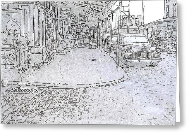 1031 S. 9th St.,phila.,pa Greeting Card by Michael Cifone
