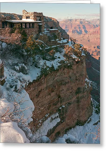 10419 Lookout Studio At Grand Canyon Greeting Card by John Prichard