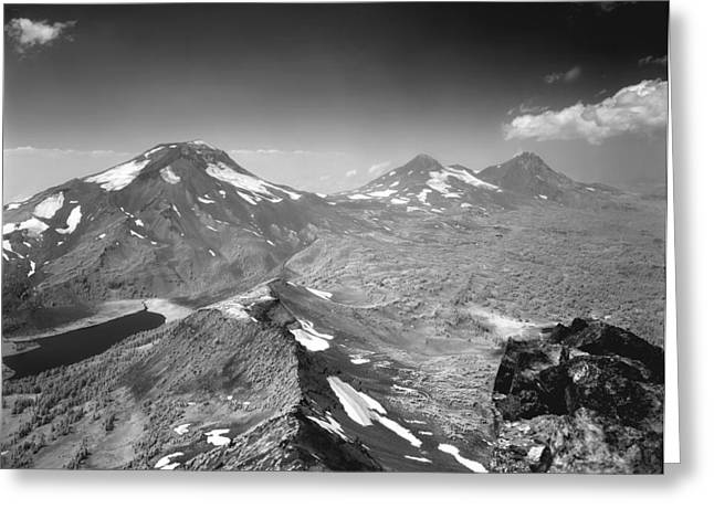 Greeting Card featuring the photograph 105723 Sisters From Broken Top Or by Ed Cooper Photography