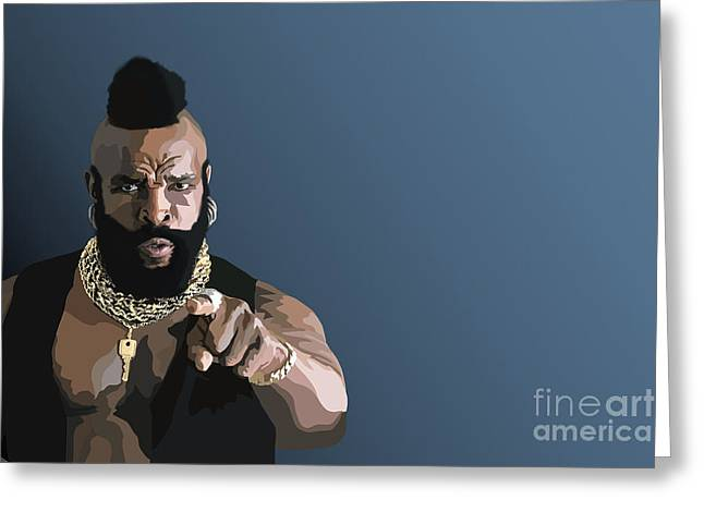 107. Pity The Fool Greeting Card by Tam Hazlewood