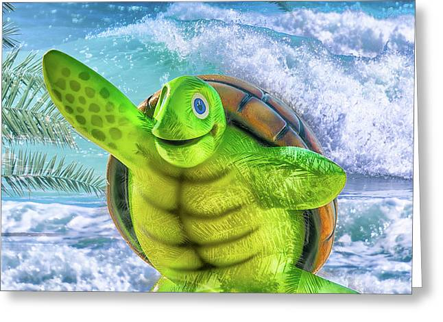 10731 Myrtle The Turtle Greeting Card by Pamela Williams