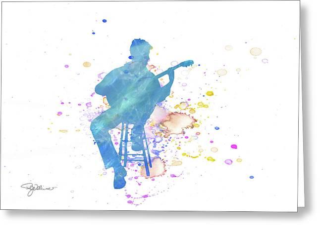 10830 Guitar Player Greeting Card