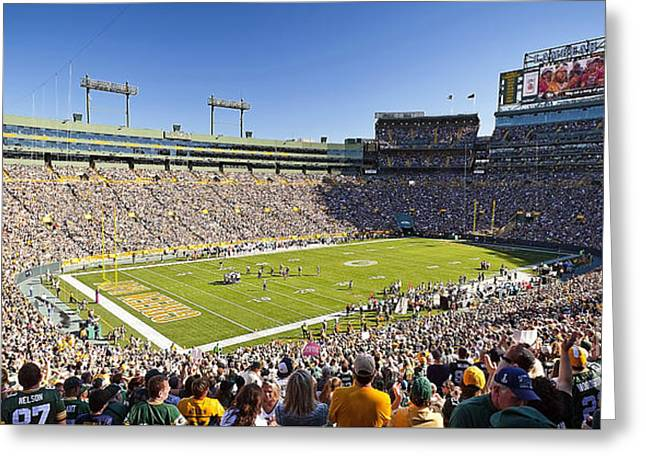 1084 Lambeau Field Panoramic Greeting Card