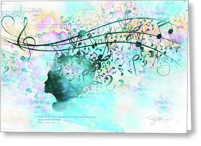 10846 Melodic Dreams Greeting Card by Pamela Williams