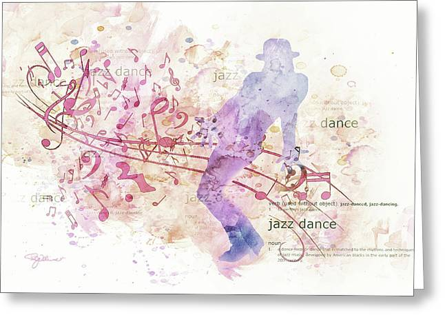 10849 All That Jazz Greeting Card by Pamela Williams