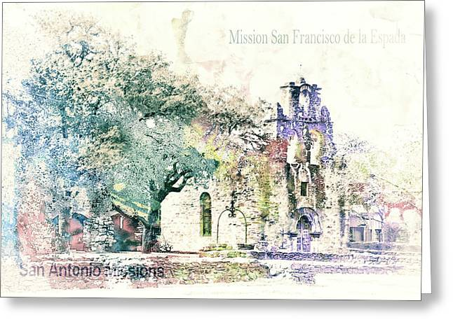10858 Mission San Fransico De La Espada Greeting Card by Pamela Williams