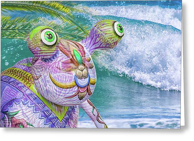 10859 Aliens In Paradise Greeting Card by Pamela Williams
