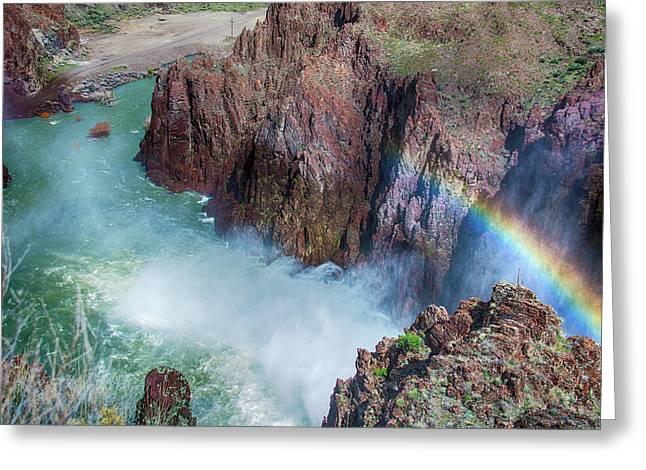10883 Rainbow Over Owyhee Greeting Card by Pamela Williams