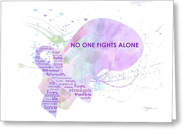 10969 No One Fights Alone Greeting Card