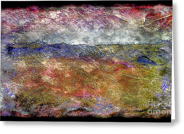 10c Abstract Expressionism Digital Painting Greeting Card