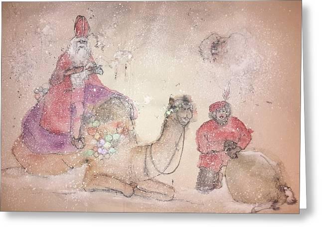 A Camel Story Album  Greeting Card